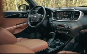 3rd Generation Kia Sorento dashboard and steering wheel