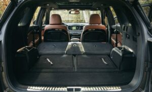 3rd Generation Kia Sorento folded all seats luggage area view
