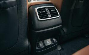 3rd Generation Kia Sorento rear air vents and power plug