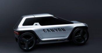 Canyon Capsule Revolutionary e bike car concept