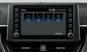 Suzuki Swace hybrid Estate car infotainment screen view