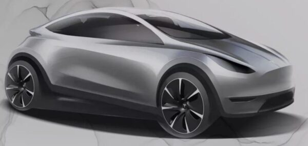 expected upcoming Tesla Electric Autonomous Hatchback design