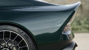 jaw dropping aston martin Victor Super Sport car based one 77 Rear closely view