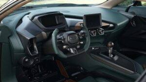 jaw dropping aston martin Victor Super Sport car based one 77 interior view