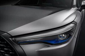 1st Generation Toyota Corolla cross headlamps view