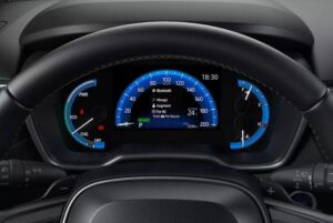 1st Generation Toyota Corolla cross information cluster view