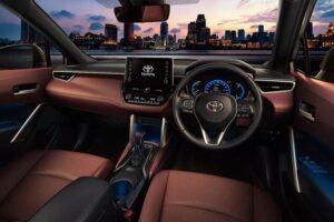 1st Generation Toyota Corolla cross interior view