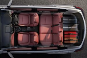 1st Generation Toyota Corolla cross upside interior view