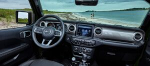4th Generation Jeep Wrangler front cabin interior features