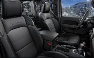 4th Generation Jeep Wrangler front seats view