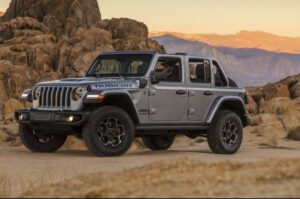 4th Generation Jeep Wrangler front side view