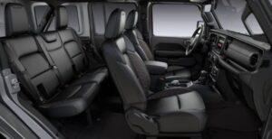 4th Generation Jeep Wrangler full interior seats view