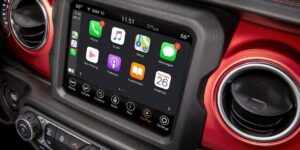 4th Generation Jeep Wrangler infotainment screen view