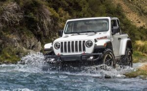 4th Generation Jeep Wrangler off road capability driving view