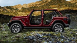 4th Generation Jeep Wrangler roof less side view