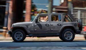 4th Generation Jeep Wrangler side and wheels view
