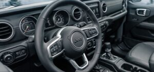 4th Generation Jeep Wrangler steeing and other controls