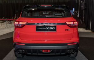 1st Generation Proton X50 SUV Rear close view and tail lights