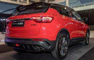1st Generation Proton X50 SUV Rear down view