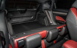 1st Generation Proton X50 SUV Rear seats folded view