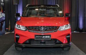 1st Generation Proton X50 SUV front close view