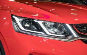 1st Generation Proton X50 SUV headlamps close view