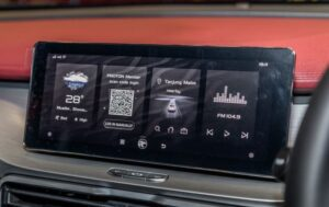 1st Generation Proton X50 SUV infotainment screen view