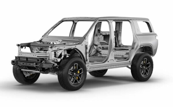 1st Generation Rivian R1S electric SUV body structure