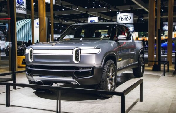 1st Generation Rivian R1T electric pickup truck title image