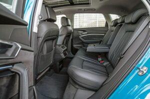 1st generation Audi E tron Electric SUV Rear seats