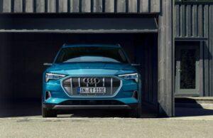 1st generation Audi E tron Electric SUV front view 2