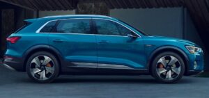 1st generation Audi E tron Electric SUV full side view