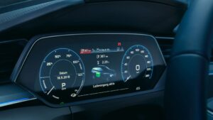 1st generation Audi E tron Electric SUV information screen view