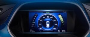 1st Generation BAIC EC3 EV hatchback 7 inch dual interface dashboard screen