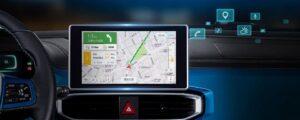 1st Generation BAIC EC3 EV hatchback 8 inch infotainment screen