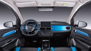 1st Generation BAIC EC3 EV hatchback front cabin interior