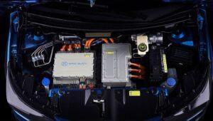 1st Generation BAIC EC3 EV hatchback power compartment view