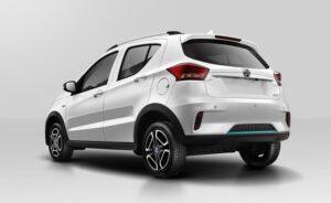 1st Generation BAIC EC3 EV hatchback white rear view