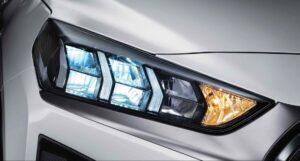 1st Generation Hyundai Ioniq Hybrid sedan headlamps