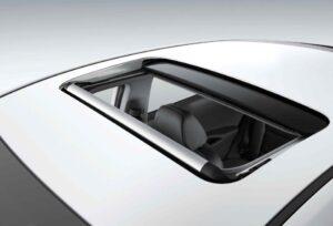 1st Generation Hyundai Ioniq Hybrid sedan sunroof view