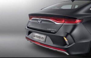 1st generation Hyundai Lafesta EV sedan Rear view