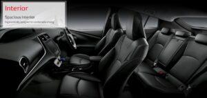 4th Generation Toyota Prius Sedan Spacious interior cabin