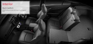 4th Generation Toyota Prius Sedan back comfort interior
