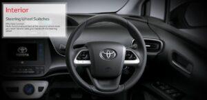 4th Generation Toyota Prius Sedan steering wheel switches