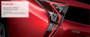 4th Generation Toyota Prius Sedan trapezoidal LED rear combination lamps