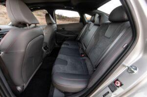 8th Generation Hyundai Sonata Luxury Sedan Rear seats
