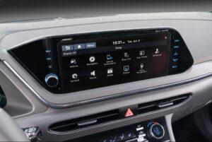 8th Generation Hyundai Sonata Luxury Sedan infotainment screen view