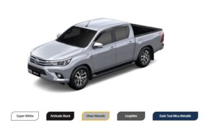 8th Generation Toyota Revo available Colours
