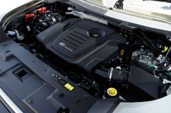 Latest generation Land Rover Defender SUV engine view