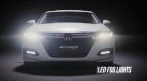 10th generation Honda Accord sedan Led fog lamps